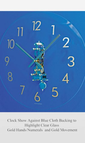 Lauren Glass Mechanical Wall Clock
