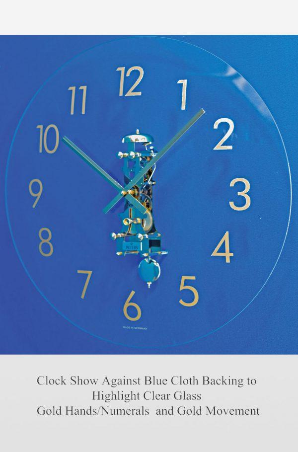Lauren Glass Mechanical Wall Clock