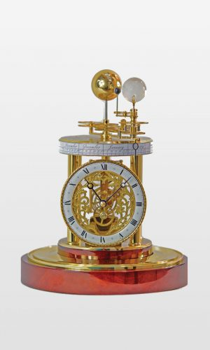 Aquarius Mechanical Clock in Mahogany Finish
