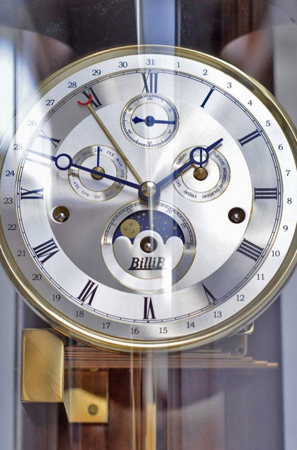 Knightsbridge Triple Chime Contemporary Wall Clock