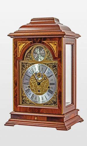 Heirloom English Style Mahogany Mantel Clock
