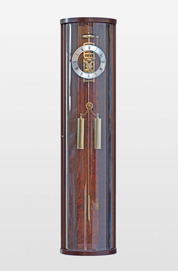 Antoinette Design Contemporary Wall Clock In Walnut Finish Billib
