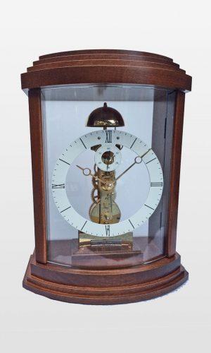 Lindsey Mantle Clock in Walnut Finish