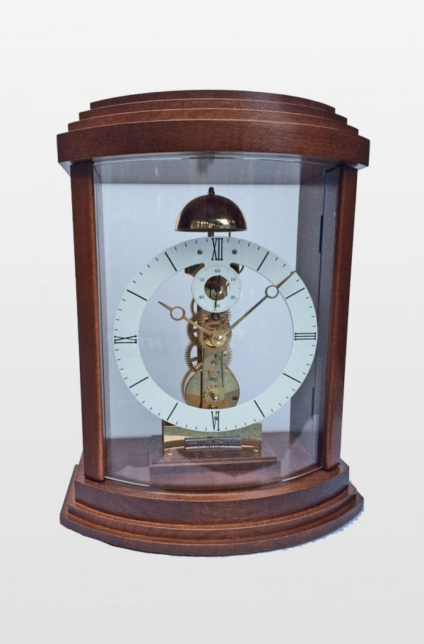 Lindsey Mantle Clock in Walnut Finish