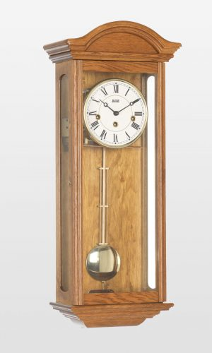 Axford Mechanical Wall Clock in Light Oak Finish