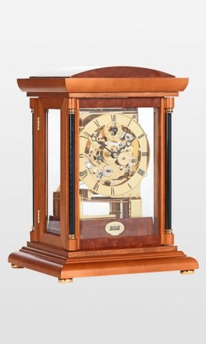 Bradley Mantel Clock in Yew Finish