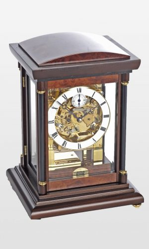 Bradley Mantel Clock in Walnut Finish