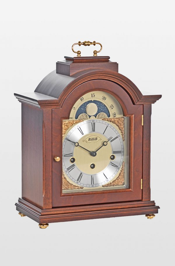 Linton Mantel Bracket Clock in Walnut Finish