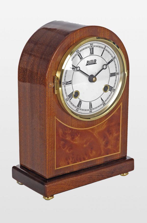 Rosewood Bell Strike Mantel Clock