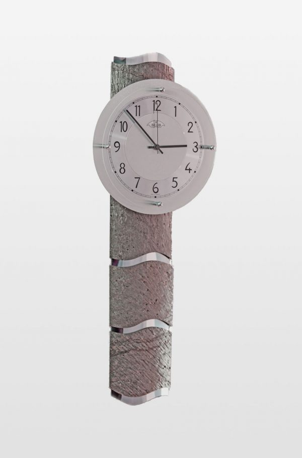Designer Grey Stone Effect Wall Clock