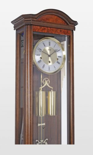 Portland Regulator Wall Clock in Walnut Finish