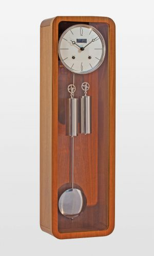 Vintage Mechanical Wall Clock in Teak Finish